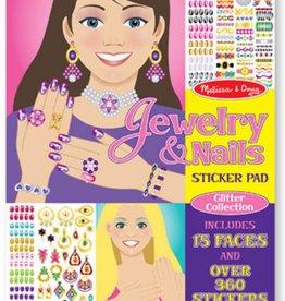 Melissa & Doug Jewelry & Nails Glitter Coll Sticker Pad