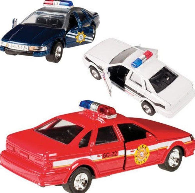 Toysmith DIECAST PULL BACK PATROL CARS