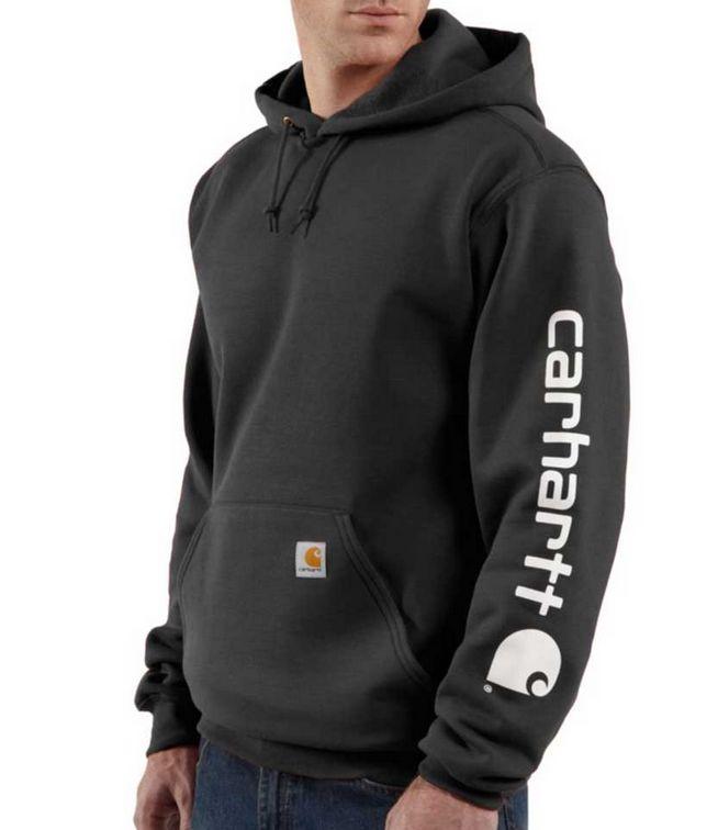 Carhartt Midweight Sig Sleeve Logo Hood Sshirt