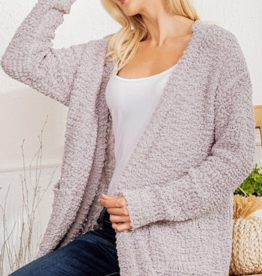 Heimish LONG SLEEVE SOLID OPEN SWEATER CARDIGAN WITH SIDE POCKET DETAIL