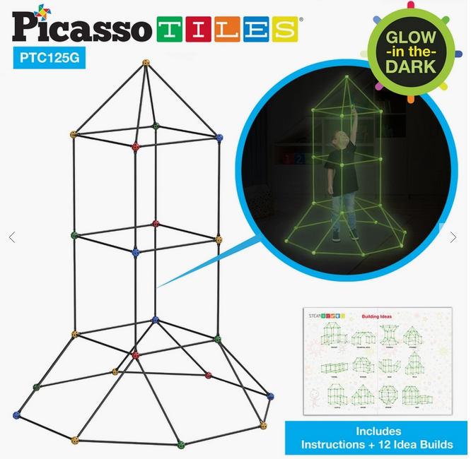PICASSO TILES 125 pc GLOW FORT KIT
