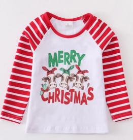 Honeydew kids clothing MERRY CHRISTMAS PRINT SHIRT