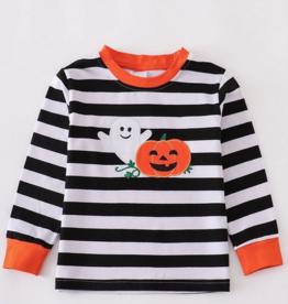 Honeydew kids clothing HALLOWEEN BLACK STRIPE GHOST SHIRT