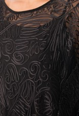 Black Cover Up W/ Fringe Detail