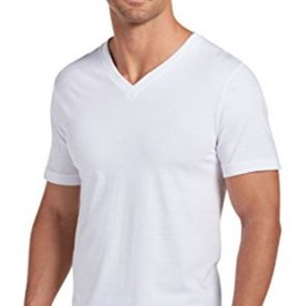 JOCKEY V-Neck T-Shirt (3 Pack) White