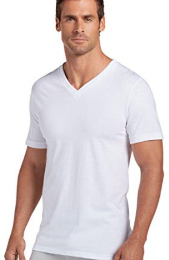 JOCKEY 3-Pack V-Neck T-Shirt, White