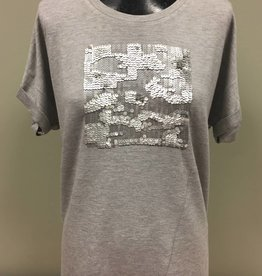 FRENCH DRESSING FDJ Cap Sleeve Top W/ Sequins