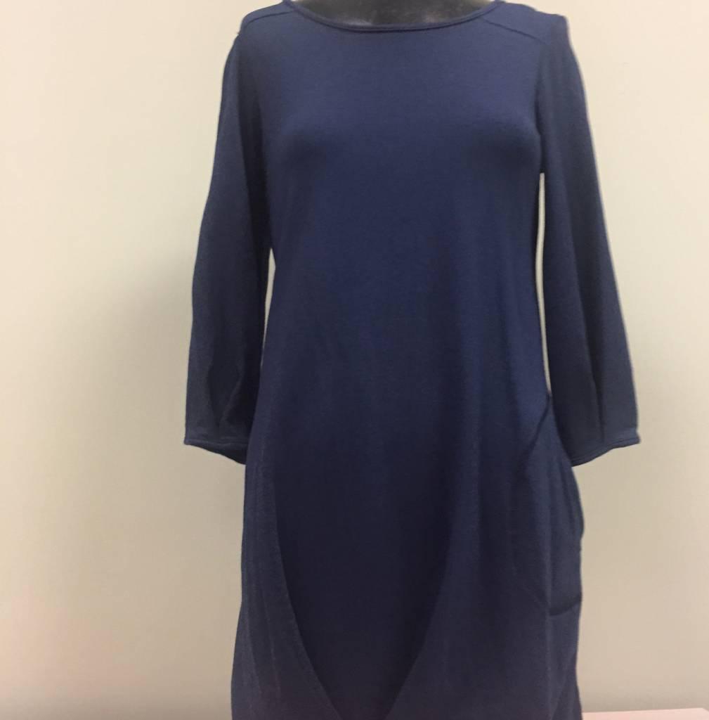 Pure Essence Pure Essence Tunic Dress, 3/4 Sleeve, Side Seam Pocket 112-4360