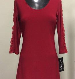 Artex Fashions Artex Ruched Sleeve Top