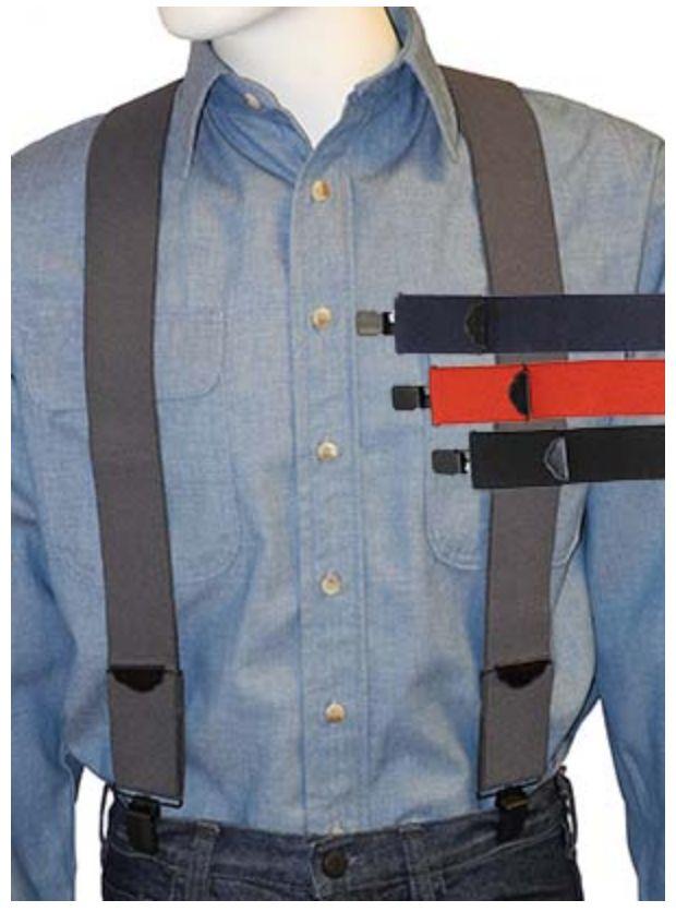 Broner Hats Broner Mainstay Solid Suspenders Asst Colors 94-229