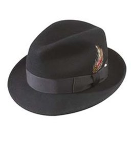 Broner Hats Broner Black Felt Melodrama 73-381