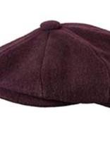 Broner Hats Broner Burgundy 8 QTR Cap, Tie Lined 72-028