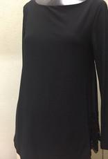 Last Tango Long Sleeve Top W/ Back Chiffon Pleats  MS 1080