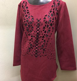 Lindi- Laser Cut Out Tunic TI736