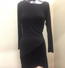 Kleen Kleen Long Sleeve Cross Tunic with Velvet