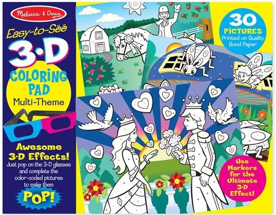 3D COLORING BOOK - GIRLS