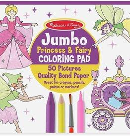 Melissa & Doug Jumbo Coloring Pad- Princess & Fairy