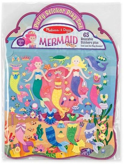 Melissa & Doug Puffy Sticker Play Set - Mermaids