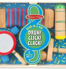 Melissa & Doug Band-in-a-Box - Drum! Click! Clack!