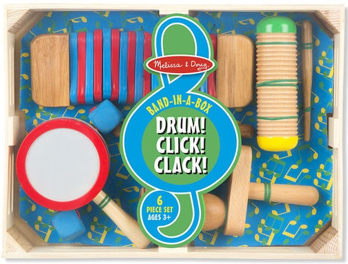 Melissa & Doug Band-in-a-Box - Drum! Click! Clack!