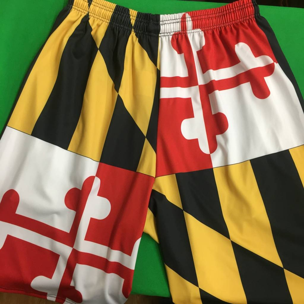 MD Flag Shorts W/ Pockets