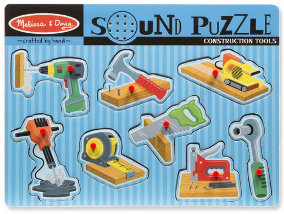 Melissa & Doug Construction Tools Sound Puzzle