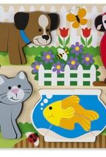 Melissa & Doug Chunky Jigsaw Puzzle - Pets