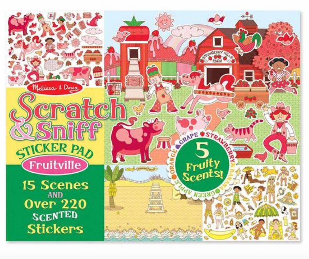 Melissa & Doug Scratch & Sniff Fruitville