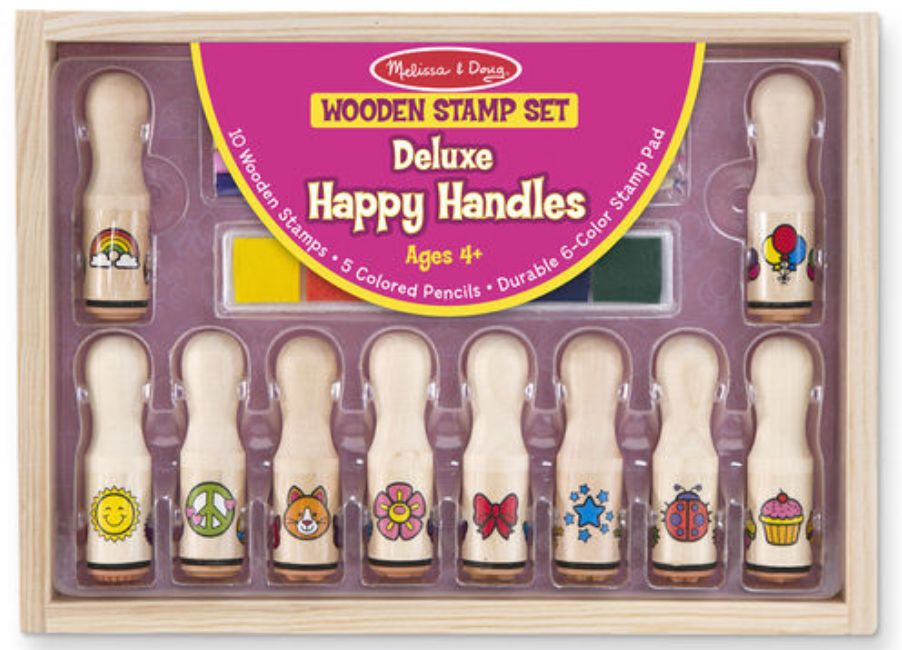 Melissa & Doug Deluxe Happy Handle Stamp Set