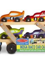 Melissa Doug Mega Race Car Carrier