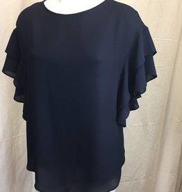 Joseph Ribkoff Ruffled Short Sleeve Ladies Top 181291