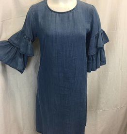 Made In Italy Made In Italy Woven 3/4 Slv Dress 19/10540I