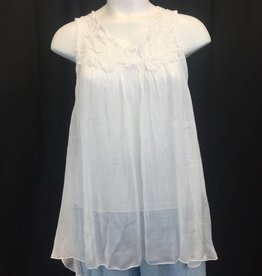 Made In Italy Made In Italy Woven Sleeveless Top 15/7483I