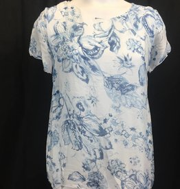 Made In Italy Made In Italy Woven Short Sleeve Top 10/6792IX