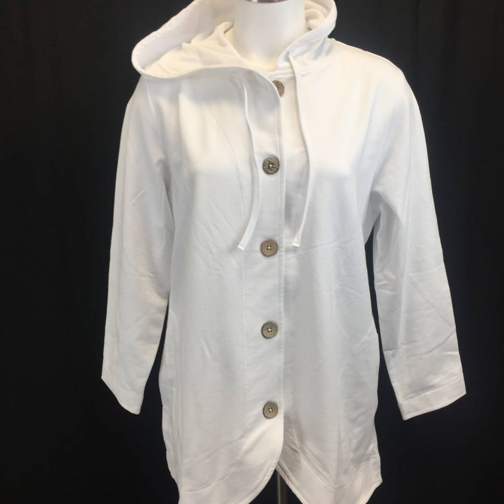 Wild Palms Long Sleeve Pullover Hooded Jacket 773