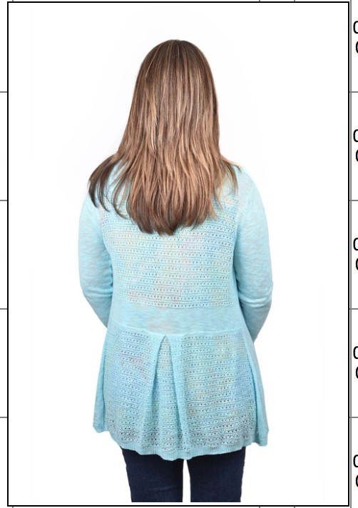 Ethyl Blue Lacy Cardigan