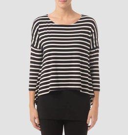 B/W striped tunic