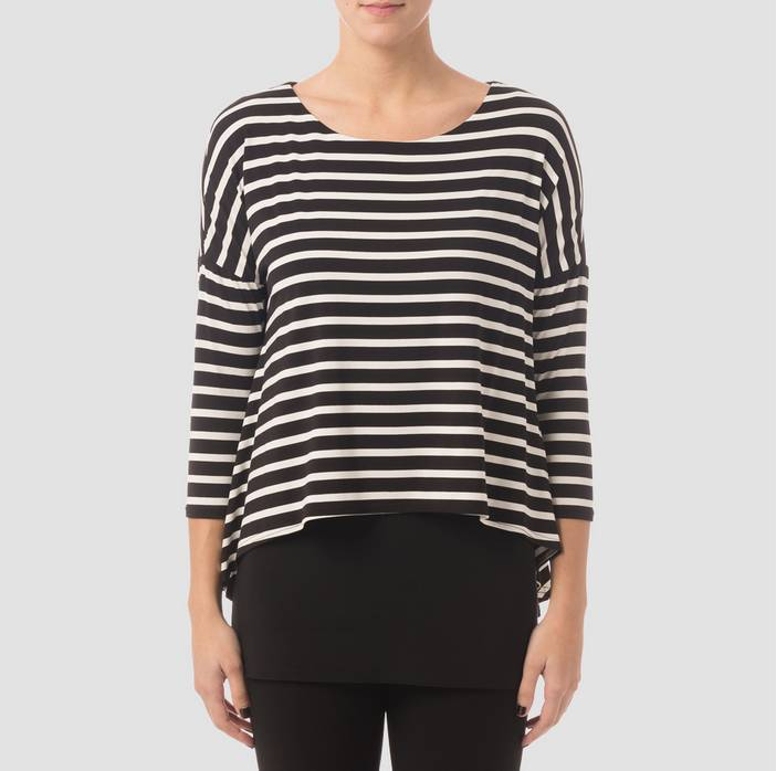 B/W striped tunic