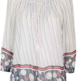 Made In Italy Dot & Stripe Blouse