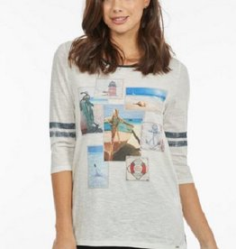 FRENCH DRESSING Nautical Print Top 1573129