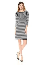 TRIBAL 3/4 Sleeve Boat Neck Dress 29710-5464