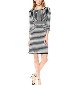 TRIBAL 3/4 Sleeve Boat Neck Dress 29710-5464
