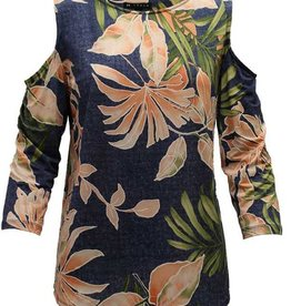 N TOUCH 3/4 Sleeve Evitah Print Top