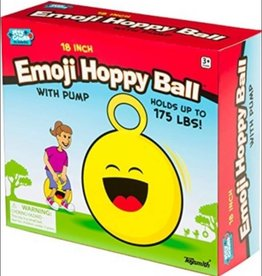 "Toysmith EMOJI HOPPY BALL 18"" W/PUMP"