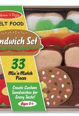 Melissa & Doug Felt Food- Sandwich Set