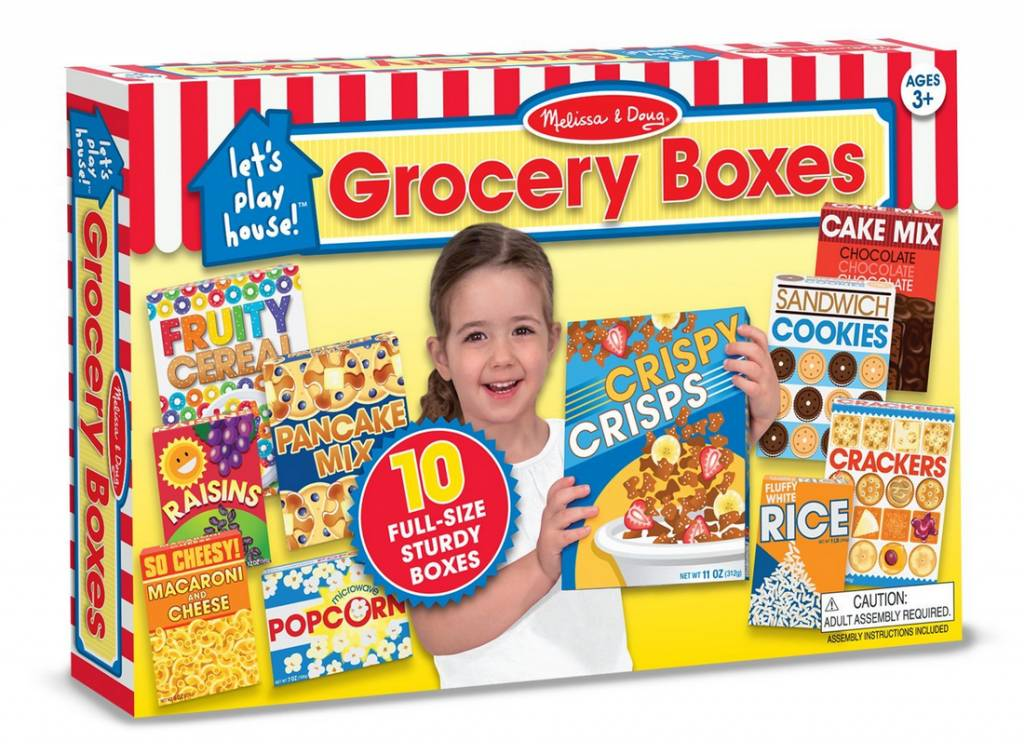 Melissa & Doug Let's Play House Grocery Shelf Boxes