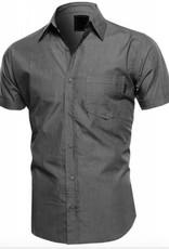 Hawk's Bay Men's Classic Fit Shirt, Charcoal