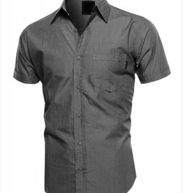 Hawk's Bay Men's Classic Fit Shirt, Charcoal