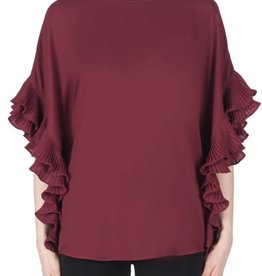Joseph Ribkoff Ladies Top, Burgundy