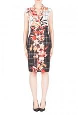 Joseph Ribkoff Ladies Tunic Dress, Black/White Plaid